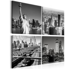 Artgeist Wandbild - Faces of New York