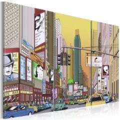Artgeist Wandbild - Großstadt aus einem Comic