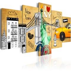 Artgeist Wandbild - I love New Jork City
