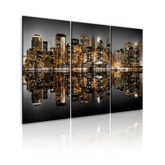 Artgeist Wandbild - Lichtermeer - NYC