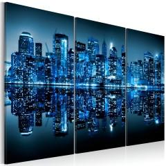 Artgeist Wandbild - Manhattan in Blau