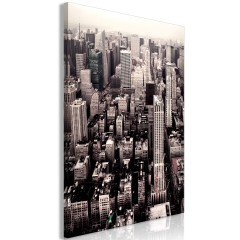 Artgeist Wandbild - Manhattan In Sepia (1 Part) Vertical
