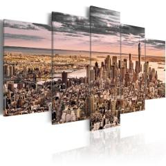 Artgeist Wandbild - New York City: Morning Sky