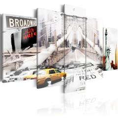 Artgeist Wandbild - New York im Nebel