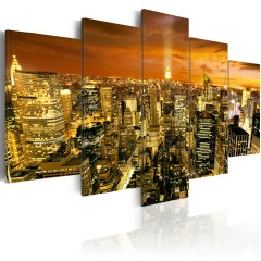 Artgeist Wandbild - New York: amber
