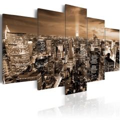 Artgeist Wandbild - New York: night light