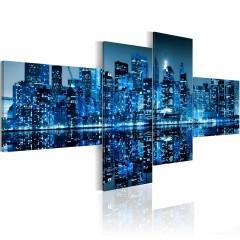 Artgeist Wandbild - New Yorker Hochhäuser in Blau