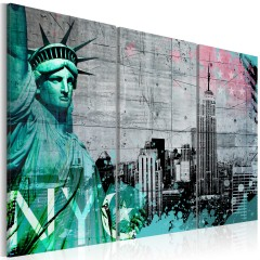 Artgeist Wandbild - NYC collage III