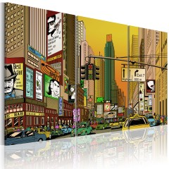 Artgeist Wandbild - NYC im Comic