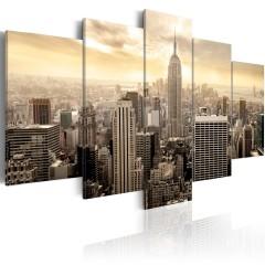 Artgeist Wandbild - Sonnenaufgang in New York