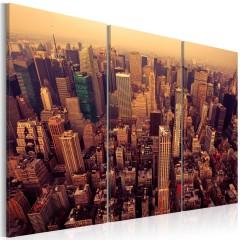 Artgeist Wandbild - Sonnenuntergang in New York