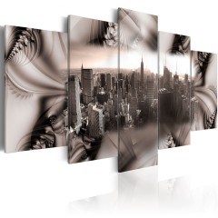 Artgeist Wandbild - Stadt aus Stahl