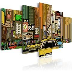 Artgeist Wandbild - Straßen von NYC im Comic