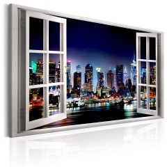 Artgeist Wandbild - Window: View of New York