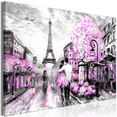 Artgeist Wandbild - Colourful Rendez-Vous (1 Part) Wide Pink