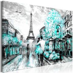 Artgeist Wandbild - Colourful Rendez-Vous (1 Part) Wide Turquoise