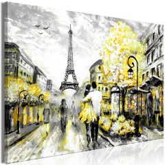 Artgeist Wandbild - Colourful Rendez-Vous (1 Part) Wide Yellow