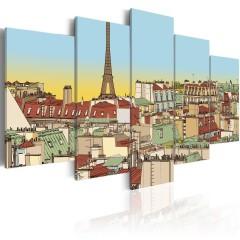 Artgeist Wandbild - Idyllisches Bild von Paris