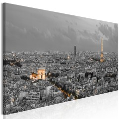 Artgeist Wandbild - Panorama of Paris (1 Part) Narrow