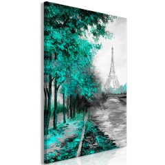 Artgeist Wandbild - Paris Channel (1 Part) Vertical Green