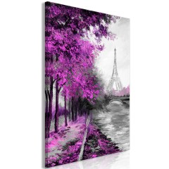 Artgeist Wandbild - Paris Channel (1 Part) Vertical Pink