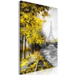 Artgeist Wandbild - Paris Channel (1 Part) Vertical Yellow
