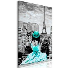 Artgeist Wandbild - Paris Colour (1 Part) Vertical Green