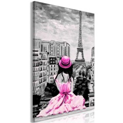 Artgeist Wandbild - Paris Colour (1 Part) Vertical Pink