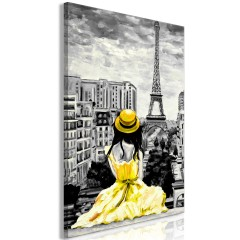 Artgeist Wandbild - Paris Colour (1 Part) Vertical Yellow