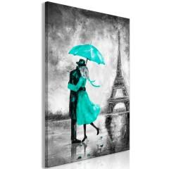 Artgeist Wandbild - Paris Fog (1 Part) Vertical Green