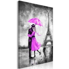Artgeist Wandbild - Paris Fog (1 Part) Vertical Pink