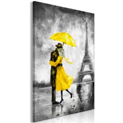 Artgeist Wandbild - Paris Fog (1 Part) Vertical Yellow