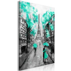 Artgeist Wandbild - Paris Rendez-Vous (1 Part) Vertical Green