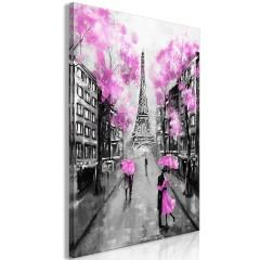 Artgeist Wandbild - Paris Rendez-Vous (1 Part) Vertical Pink