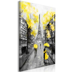 Artgeist Wandbild - Paris Rendez-Vous (1 Part) Vertical Yellow