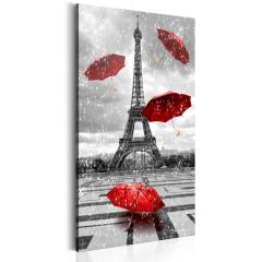 Artgeist Wandbild - Paris: Red Umbrellas