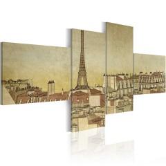 Artgeist Wandbild - Pariser Finesse im Retro-Look