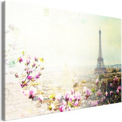 Artgeist Wandbild - Postcards from Paris (1 Part) Wide