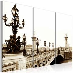 Artgeist Wandbild - Romantischer Spaziergang in Paris