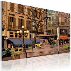 Artgeist Wandbild - Ruhiger Abend in Paris