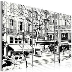 Artgeist Wandbild - Skizze eines Pariser Platzes