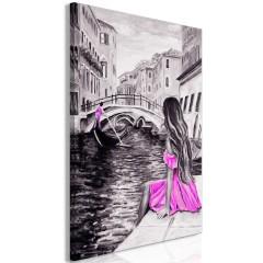 Artgeist Wandbild - Far Dreams (1 Part) Vertical Pink
