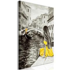 Artgeist Wandbild - Far Dreams (1 Part) Vertical Yellow