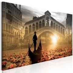 Artgeist Wandbild - Magic Venice (1 Part) Narrow Orange