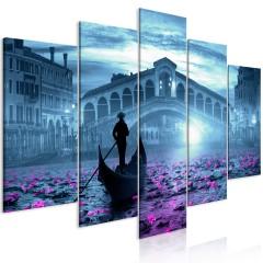 Artgeist Wandbild - Magic Venice (5 Parts) Wide Blue