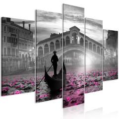 Artgeist Wandbild - Magic Venice (5 Parts) Wide Grey