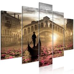 Artgeist Wandbild - Magic Venice (5 Parts) Wide Orange
