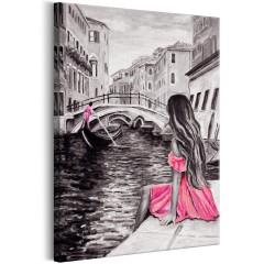 Artgeist Wandbild - Woman in Venice (1 Part) Vertical