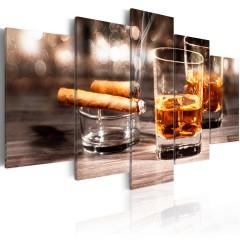 Artgeist Wandbild - Cigar and whiskey