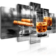 Artgeist Wandbild - Cigars and whiskey